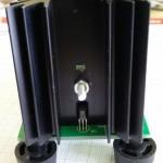 Active Load v1 (back view). Notice the temperature sensor at the heatsink.