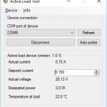 Active Load Tool - Main window